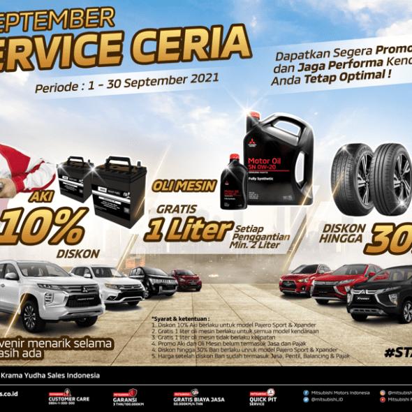 September Service Ceria, Gratis Oli Untuk Pelanggan Mitsubishi